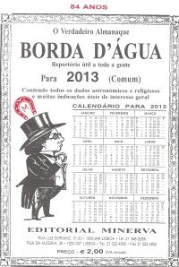 Capa do Almanaque Borda d'Água 2013
