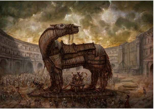 Keith Thompson Art - Trojan Horse